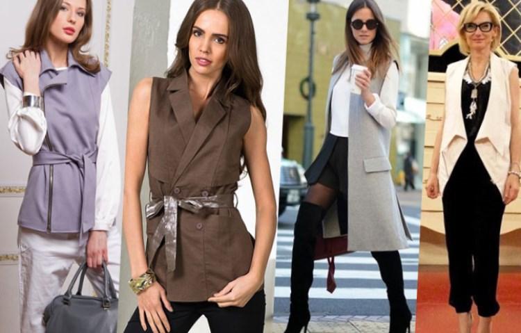 Пиджаки без рукавов женские с чем носить
