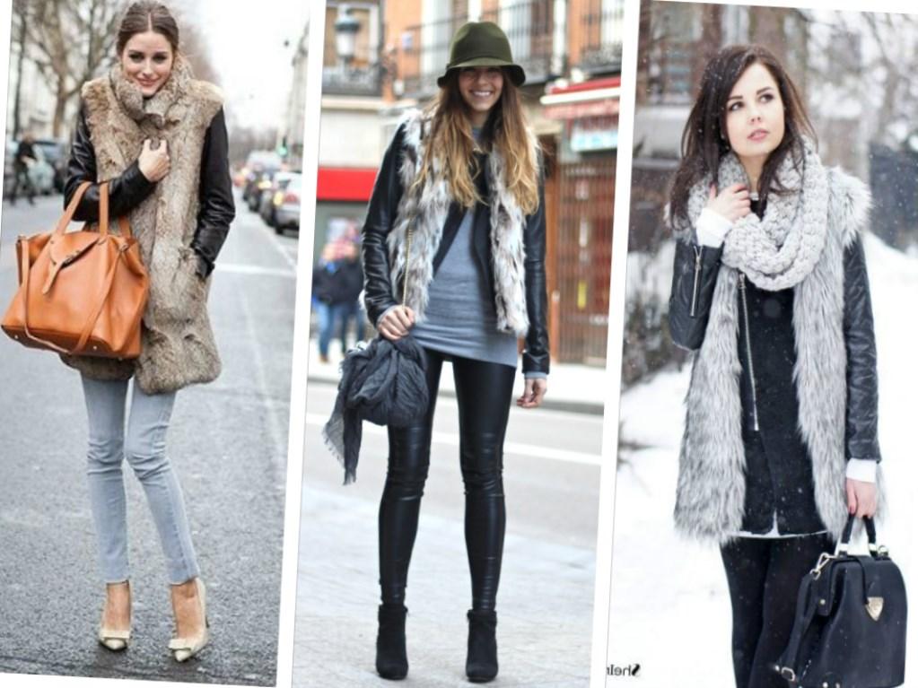 Как носить меховую жилетку зимой