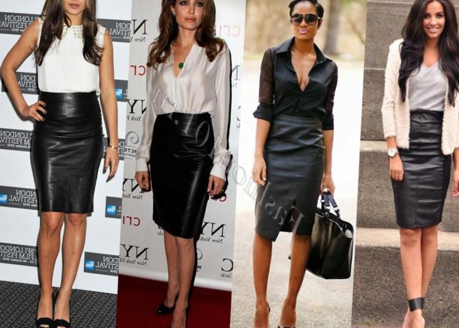 Итак, тема сегодняшнего обзора «С чем носить кожаную юбку, чтобы выглядеть сногсшибательно»?!Для начала хотелось бы отметить, что кожаную юбочку нужно подбирать по размеру, ведь слишком маленькая, узкая и короткая юбка способна перевоплотить