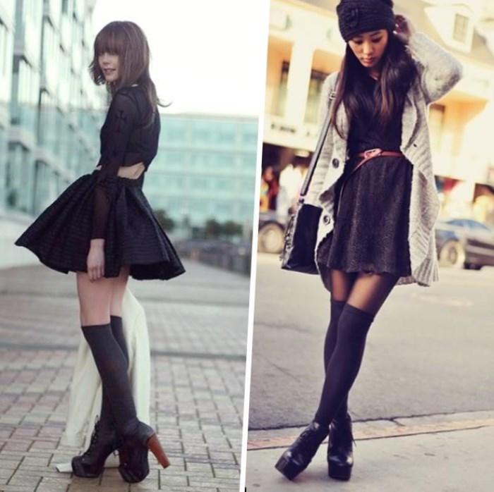 Чулки и юбка как называется