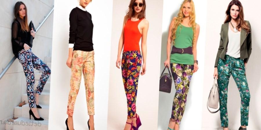 Потрясающие брюки в цветочек или с чем носить брюки в 837