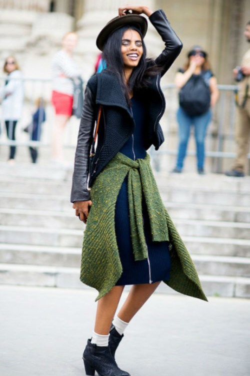 Сапоги казаки женские с чем носить. Часто вижу луки с тяжелыми осенними  ботинками сапогами 2d9e2d8ee37