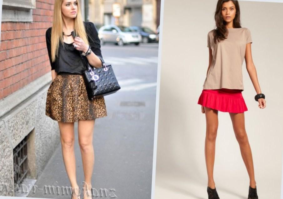 Расклешенная юбка в цветочек с чем носить