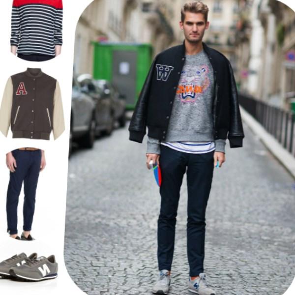 Мне нравится когда парни носят светлые кроссовки с джинсами. Тотал деним лук одного оттенка, да, но не к примеру, чёрные джинсы и светло-голубая джинсовка или вместо чёрных – цвета индиго.