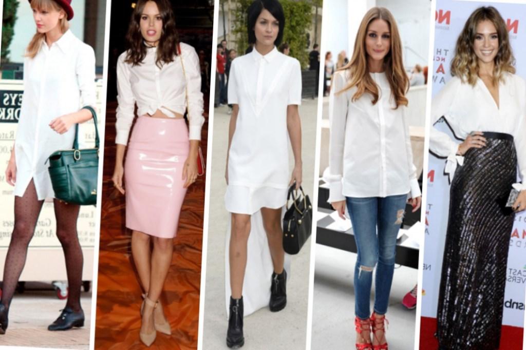 ceff346ae59 С чем носить белую рубашку каждый день  В первую очередь с джинсами. А можно