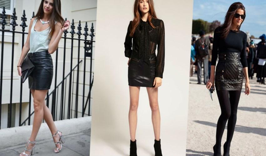 Все дело в ее универсальности: короткую кожаную юбку можно одинаково стильно миксовать с кедами и босоножками на шпильке, топами и водолазками, толстовками и свитерами-оверсайз. С чем носить кожаную юбку-карандаш.